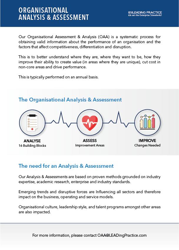 Organisational Analysis & Assessment