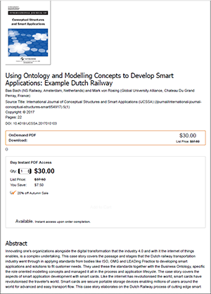 Using Ontology and Modelling Concepts to Develop Smart Applications - Example Dutch Railway